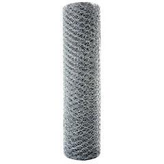 0.6x25 m Malla 3/4''  hexagonal galvanizada
