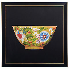 Cuadro Bowl Floreado 33X33 cm