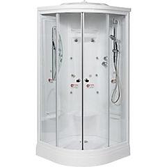 Cabina de ducha redonda 90 x 90 x 213.5 cm blanca