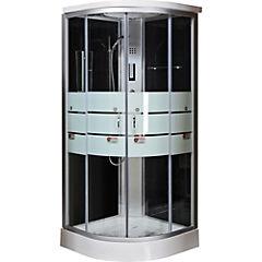 Cabina de ducha satín 90 x 90 x 213 cm