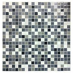 Cerámica 36x36 cm mosaik negro