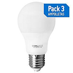 Set de ampolletas LED E-27 40 W Cálida 3 unidades