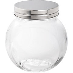 Canister vidrio 660 ml tapa cromada