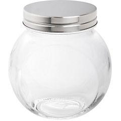 Canister vidrio 200 ml tapa cromada