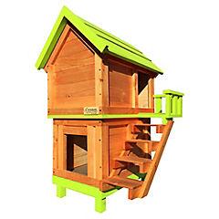 Casa para perro doble chica verde pistacho