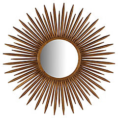 Espejo redondo 97.5 cm metal cobre