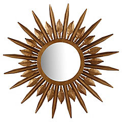 Espejo redondo 59 cm metal cobre