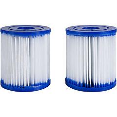 Set de 2 cartuchos para filtros de piscina