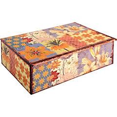 Caja patchwork con divisiones 23.5x17x7 cm