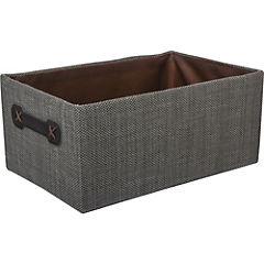 Set 3 cajas organizadoras gris/café