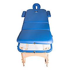 Camilla portátil Lotus azul