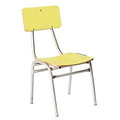 Silla escolar 60x27x32 cm amarillo