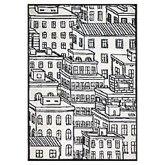 Alfombra Building blanco/negro 120x170 cm