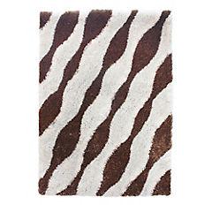 Alfombra animal print blanco/café 60x90 cm