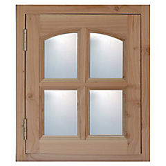 Kit ventana pino oregón 50x60 cm con vidrio
