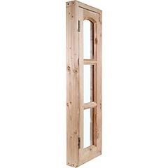 Kit ventana pino oregón 34x120 cm con vidrio