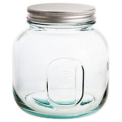 Frasco con tapa 1 kg vidrio transparente
