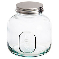Frasco de vidrio reciclado 350 gr con tapa
