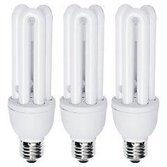 Pack 3 ampolletas tritubo 15W/50W luz fría