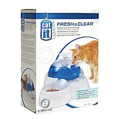 Fuente bebedera para gato con plato