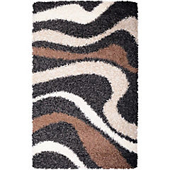 Alfombra Shaggy ola negro 160x230 cm