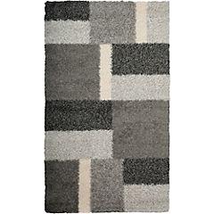 Alfombra Shaggy rectangular gris 80x150 cm
