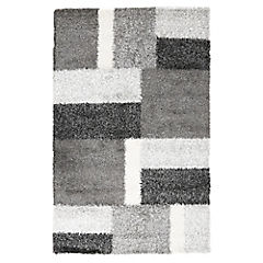 Alfombra Shaggy rectangular gris 160x230 cm