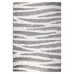 Alfombra Berber rayas gris 80x150 cm