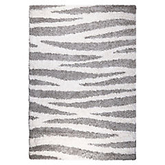 Alfombra Berber rayas gris 160x230 cm