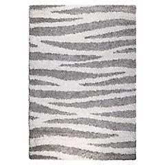 Alfombra Berber rayas gris 200x290 cm