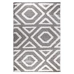 Alfombra Berber rombos gris 160x230 cm
