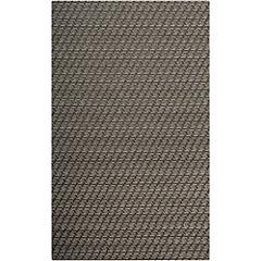 Alfombra punto interior/exterior negra 120x170 cm