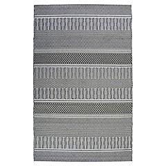 Alfombra Rayas 160x230 cm gris