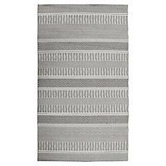 Alfombra rayas interior/exterior gris 200x290 cm