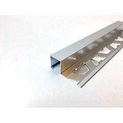 Cantonera rondalu aluminio efecto espejo 12.5x2500 mm