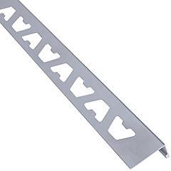 Perfil aluminio satinado plata 8x1000 mm