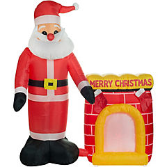 Inflable Santa chimenea 180 cm