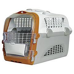 Jaula de transporte para gatos Pet Cabrio naranjo