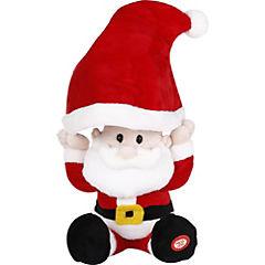 Muñeco Santa con gorro y batería
