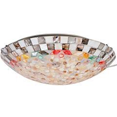 Plafón 2 luces modelo Tiffany círculos