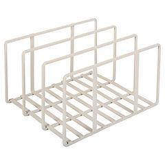Organizador de tablas 25x21x14 cm metal crema