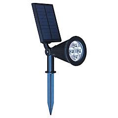 Luminaria solar con estaca LED 0,8 W Negro