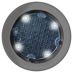 Luminaria solar de piso LED 1,2 W Plateado