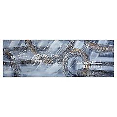 Óleo tonos grises abstractos 120x40 cm