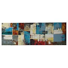 Óleo cuadrados abstractos 120x40 cm