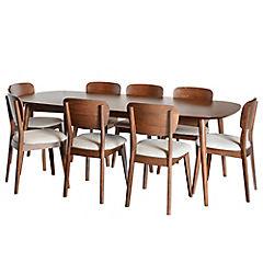 Juego de comedor extensible Oslo 8 sillas