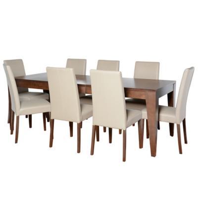 Juego de comedor extesible city 8 sillas for Sillas ergonomicas sodimac