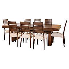 Juego de comedor Akita 8 sillas tela