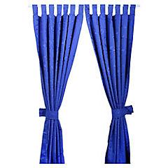 Cortina con presillas 145x220 cm azul