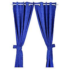 Cortina con argollas 145x220 cm azul
